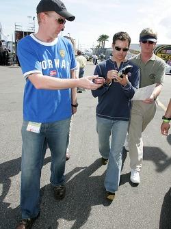 Jeff Gordon signs autographs