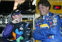 Denny Hamlin and Michael Waltrip