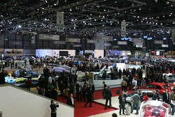 Overview of the auto show at Palexpo-Geneva