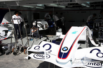 BMW Sauber garage area