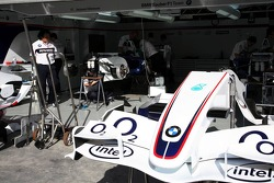 BMW Sauber garage area