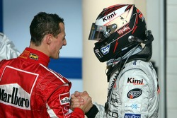 Michael Schumacher and Kimi Raikkonen