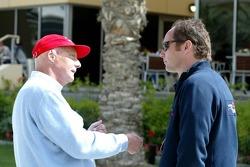 Niki Lauda and Gerhard Berger