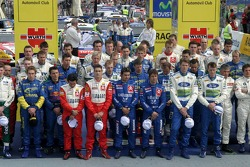 WRC drivers and co-drivers take a minute of silence in memory of co-driver Jorg Bastuck