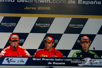 Press conference: Sete Gibernau, Loris Capirossi and Shinya Nakano