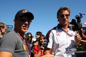 Christian Klien and Jenson Button