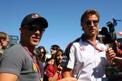 Christian Klien and Jenson Button