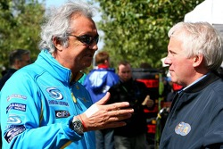 Flavio Briatore and Charlie Whiting
