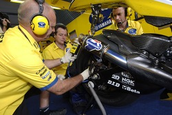 Camel Yamaha team members at work