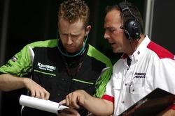 Kawasaki Racing and Bridgestone team members