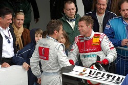 Tom Kristensen congratulates Bernd Schneider