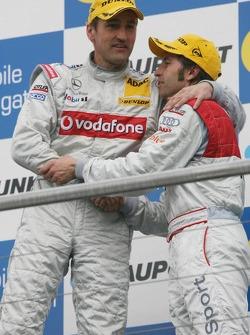 Podium: race winner Bernd Schneider and Heinz-Harald Frentzen
