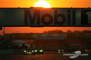 Racing in the sunset at Sebring