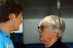 Giancarlo Fisichella and Bernie Ecclestone