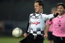 Champions for Charity football match, Ravenna's Benelli Stadium: Michael Schumacher