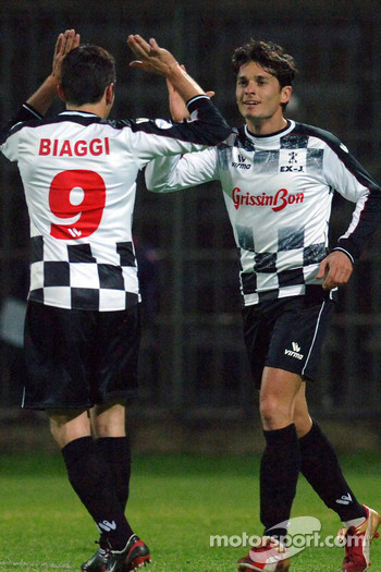 Champions for Charity football match, Ravenna's Benelli Stadium: Giancarlo Fisichella