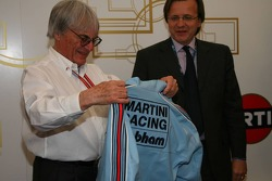 Bernie Ecclestone with the retro jacket he once worn when he was at Brabham F1
