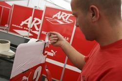 ART team prepare their cars