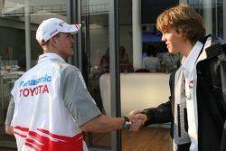 Ralf Schumacher and Sebastian Vettel