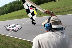 #23 Alex Job Racing/ Emory Motorsports Porsche Crawford: Mike Rockenfeller, Patrick Long takes the checkered flag