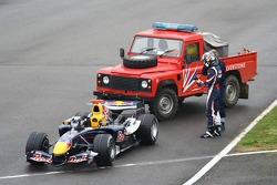David Coulthard stopped on the circuit