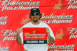 Pole winner Elliott Sadler celebrates