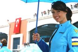 A lovely Suzuki umbrella girl