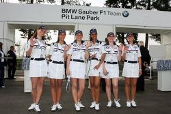 Visit of BMW Sauber F1 team Pitlane Park: lovely hostesses