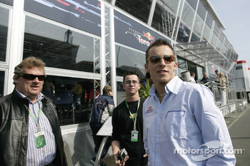 Christian Klien with his father Johannes in front of the Red Bull Energy Station