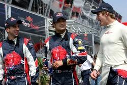 Neel Jani, Vitantonio Liuzzi and Scott Speed
