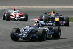 Mark Webber leads Christian Klien and Ralf Schumacher