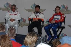 Press conference with Mario Andretti, Michael Andretti and Marco Andretti
