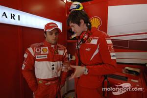 Felipe Massa and Rob Smedley