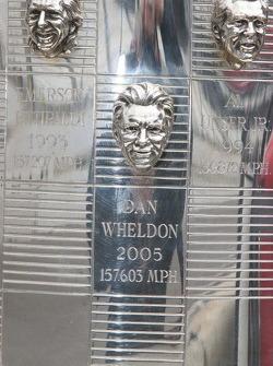 Dan Wheldon's image is emblazoned on the Borg Warner Trophy