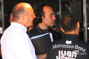 Ron Dennis and Juan Pablo Montoya