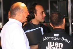 Ron Dennis and Juan Pablo Montoya