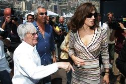Bernie Ecclestone, Flavio Briatore and Slavica Ecclestone