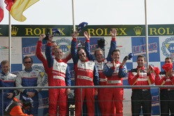 LMP2 podium: class winners Thomas Erdos, Mike Newton and Andy Wallace