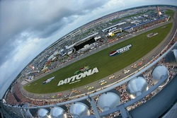 A general view of the start: Boris Said and Tony Stewart lead the field