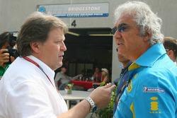Norbert Haug and Flavio Briatore