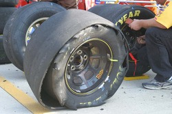 Elliott Sadler's shredded tire