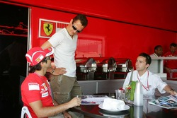 Felipe Massa, Michael Schumacher and Nicolas Todt