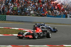 Tiago Monteiro and Nico Rosberg