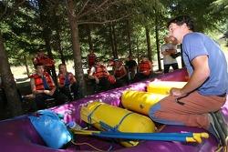 Participants receive a training session