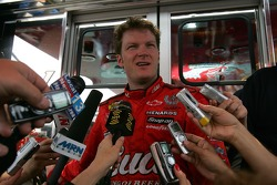 Dale Earnhardt Jr. responds to questions from the media
