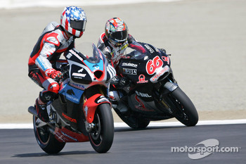 Alex Hofmann passes Kenny Roberts