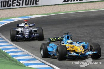 Giancarlo Fisichella and Mark Webber