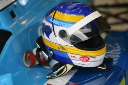 Stefan Johansson's crash helmet