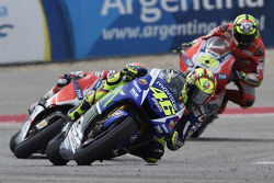 Valentino Rossi, Yamaha Factory Racing and Andrea Dovizioso and Andrea Iannone, Ducati Team