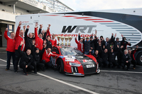 Second place Pierre Kaffer and Laurens Vanthoor and winners Christopher Mies and Nico Müller, Audi Sport Team WRT R8 LMS